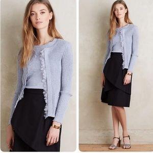 Anthropologie Ribbed Lace Cardigan Size Medium